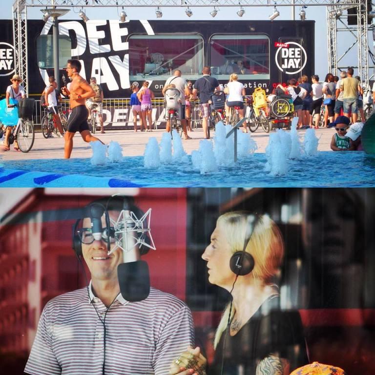 La Pina e Diego Radio Dee jay Riccione